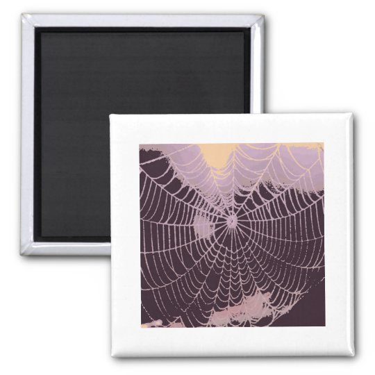 Abstract Spider  Web Magnet