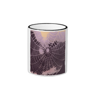 Abstract Spider  Web Mugs