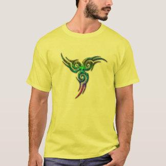 Abstract spinner mens shirt design