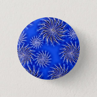 Abstract spinning stars energetic pattern button