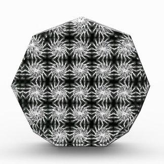 Abstract spinning stars energetic pattern regular acrylic award