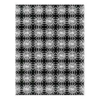 Abstract spinning stars energetic pattern regular postcard