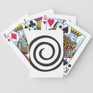 Abstract Spiral Bicycle Playing Cards