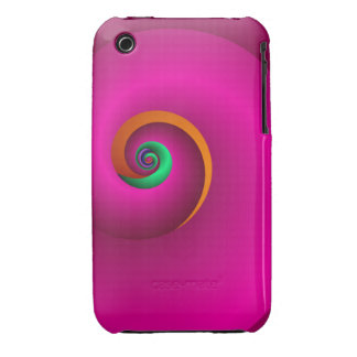 Abstract Spiral case-mate case Popping Pink iPhone 3 Cases
