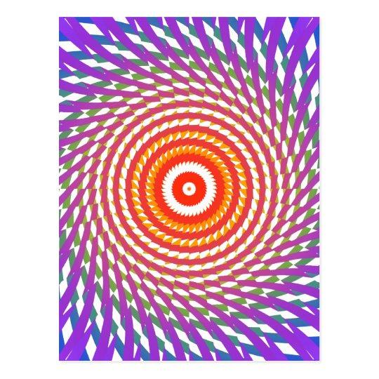 Abstract Spiral Design: Postcard