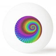 Abstract Spiral Fractal I Ping-Pong Ball