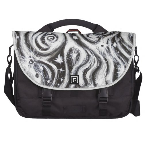 Abstract Spiral Galaxies (surrealism pattern) Laptop Commuter Bag