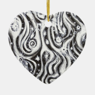 Abstract Spiral Galaxies (surrealism pattern) Ornament