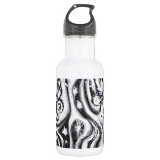 Abstract Spiral Galaxies (surrealism pattern) Stainless Steel Water Bottle