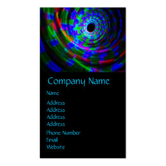 Abstract Spiral Light Painting Double-Sided Standard Business Cards (Pack Of 100)