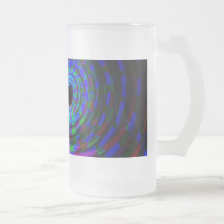 Abstract Spiral Light Painting Frosted Beer Mugs