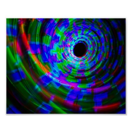 Abstract Spiral Light Painting Print