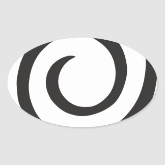 Abstract Spiral Oval Sticker