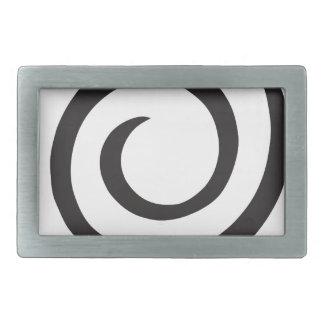 Abstract Spiral Rectangular Belt Buckle