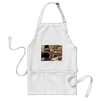 ABSTRACT SPIRAL STAIRCASE ADULT APRON