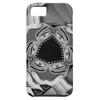 Abstract spiral stairs with eyes in the middle iPhone SE/5/5s case