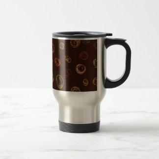 Abstract spiral travel mug