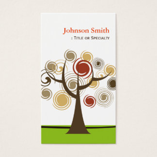 Abstract Spiral Tree of Life - Unique and Stylish Business Card