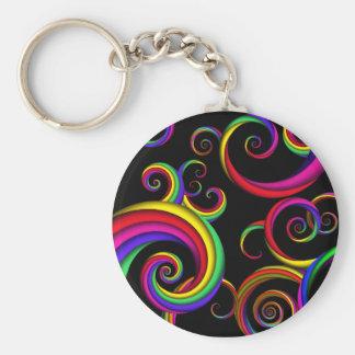 Abstract - Spirals - Inside a clown Keychain