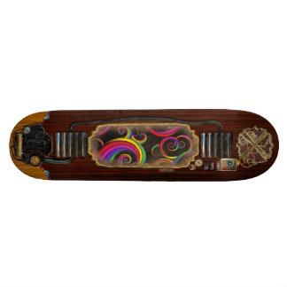 Abstract - Spirals - Inside a clown Skate Decks