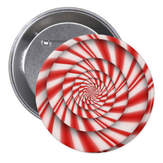 Abstract - Spirals - The power of mint 3 Inch Round Button