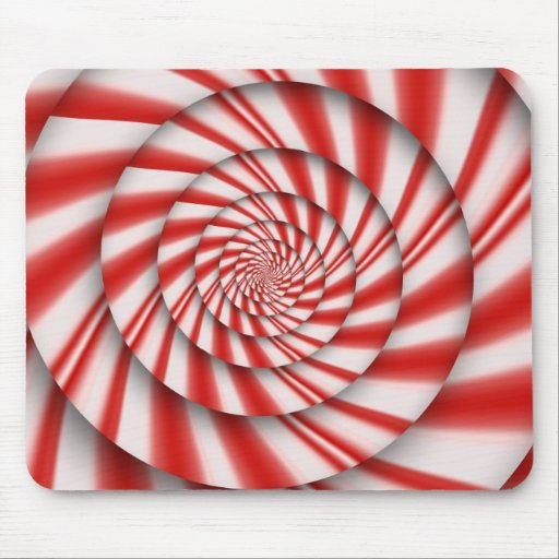 Abstract - Spirals - The power of mint Mouse Pads