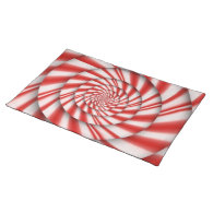 Abstract - Spirals - The power of mint Place Mats