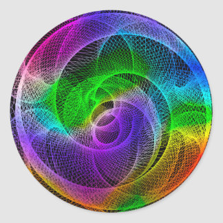 Abstract Spirograph Art Classic Round Sticker
