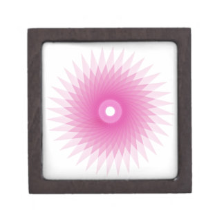 Abstract Spirograph Concentric Circle Pattern Jewelry Box