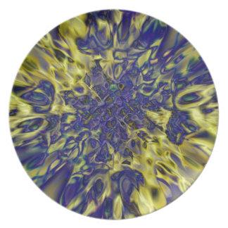 Abstract splash background dinner plate