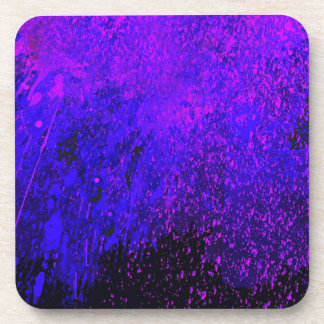 ABSTRACT SPLASH PAINTING BEVERAGE COASTER