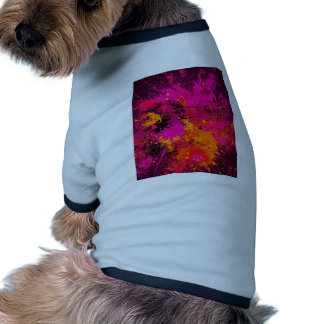 ABSTRACT SPLASH PAINTING DOG T-SHIRT