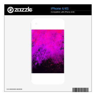 ABSTRACT SPLASH PAINTING iPhone 4S DECALS