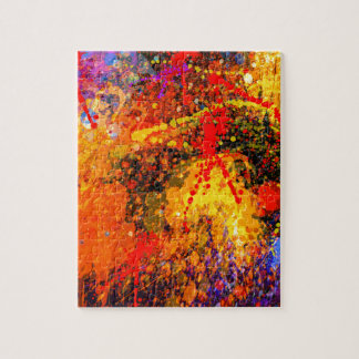 ABSTRACT SPLASH PAINTING PUZZLE