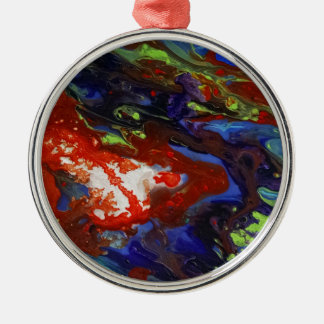 Abstract splashes of color metal ornament