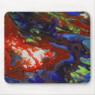 Abstract splashes of color mouse pads