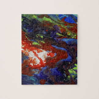 Abstract splashes of color jigsaw puzzle