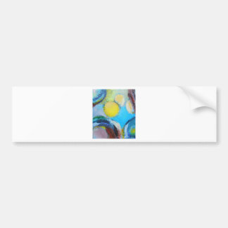 Abstract Spores (microscopic expressionism) Car Bumper Sticker