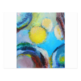 Abstract Spores (microscopic expressionism) Postcard