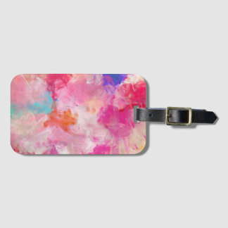 Abstract Spring Flower Field Bag Tag