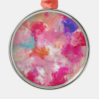 Abstract Spring Flower Field Metal Ornament