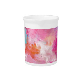Abstract Spring Flower Field Pitcher