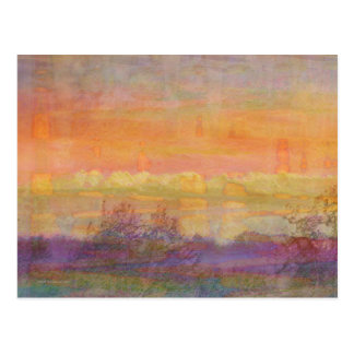 Abstract Spring Landscape Postcard