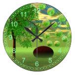 Abstract Spring Renewal – Lemon & Lime Life Force Clock