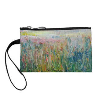 Abstract spring scene coin purse