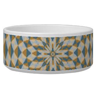 Abstract square and circle pattern pet bowl