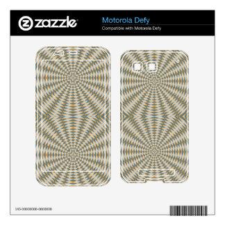 Abstract square and circle pattern motorola defy skins
