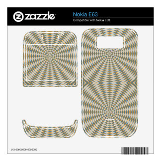 Abstract square and circle pattern skin for the nokia e63