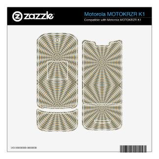 Abstract square and circle pattern motorola MOTOKRZR k1 skin