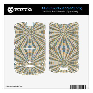 Abstract square and circle pattern skin for motorola RAZR